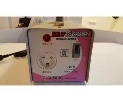 Korean 2KVUP Transformer  HT-2000UB 120V to 220V plug